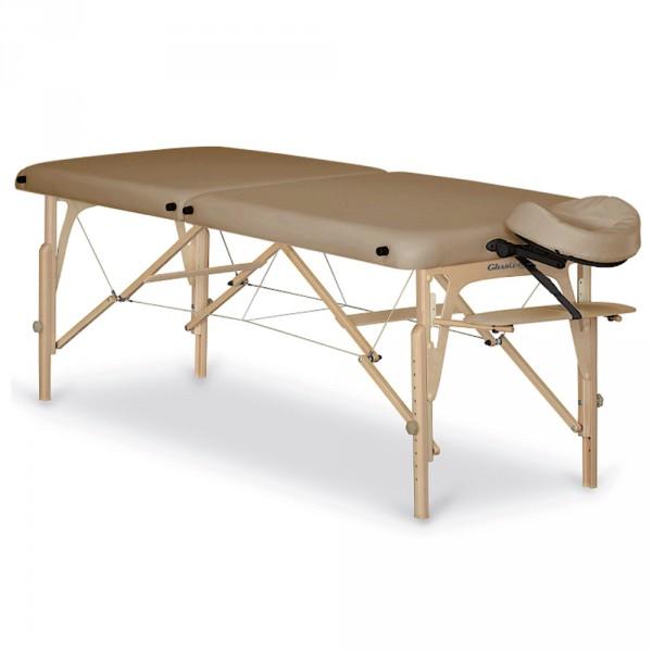 Gharieni PorTable, portable massage table, upholstery beige, width 70 cm