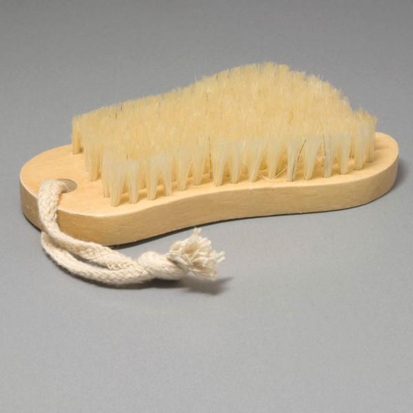 brush in foot shape