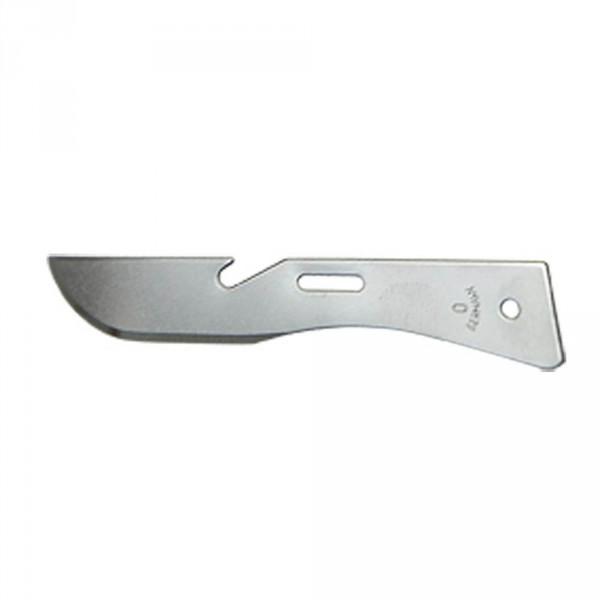 Scalpel blades, size 0, sterile, 100 pieces