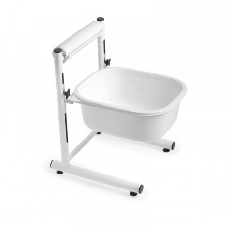 Foot bathtub, height adjustable