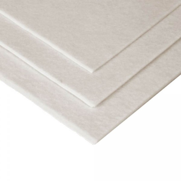 Hapla felt, white, 2 mm x 22,5 x 45 cm