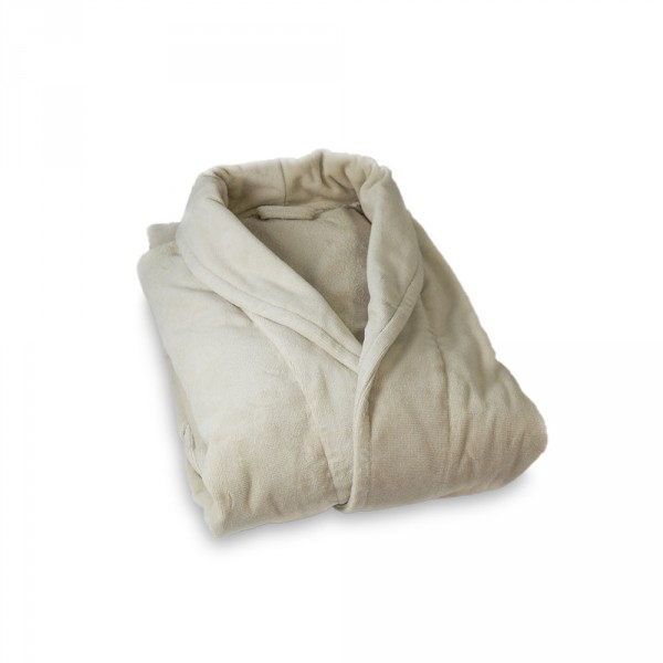 Men's Bathrobe, Size XL, Creme