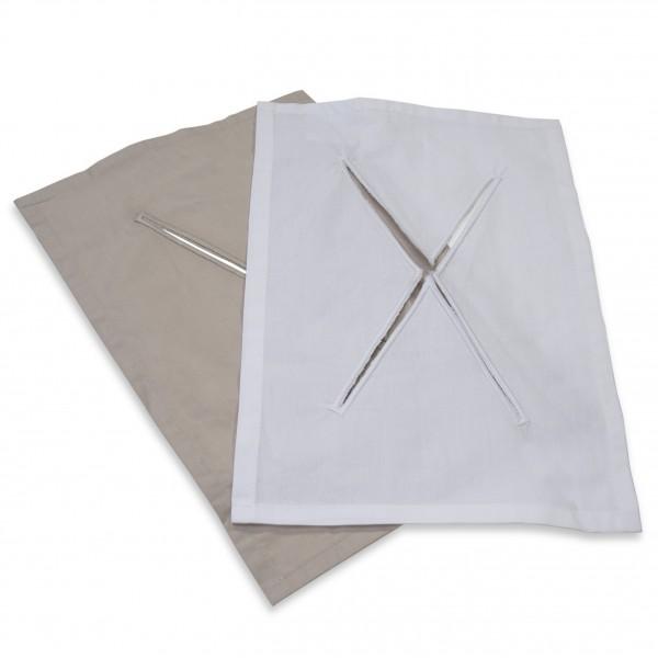 satin cloth for headrest gel cushion, white
