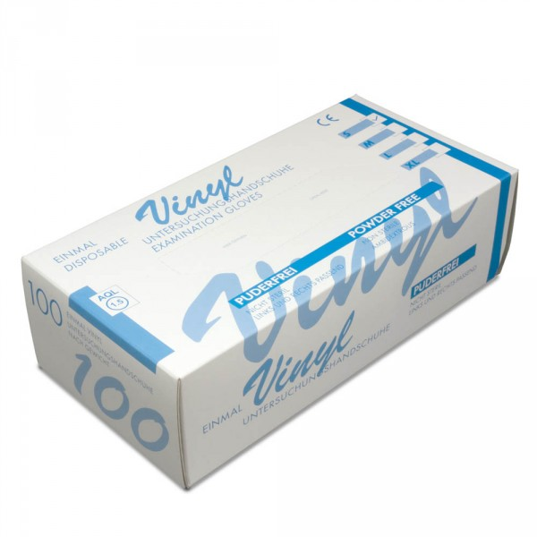 Vinyl gloves, without powder, size S, 100 pieces