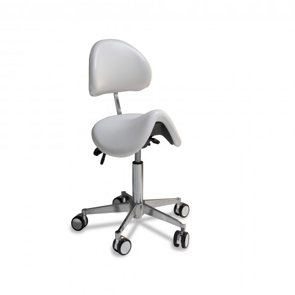 Saddle chair anatomical small, with small chrome base