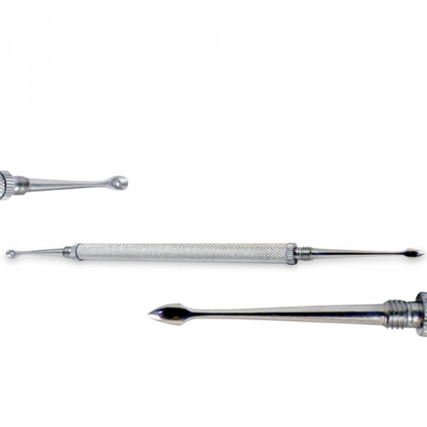 Extractor/Lancet, stainless, removable tip