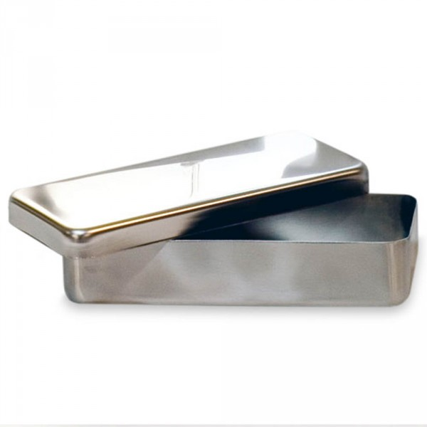 Instruments box, stainless steel, 18 x 8 x 4 cm