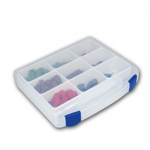 Case for small parts, 9 compartments
