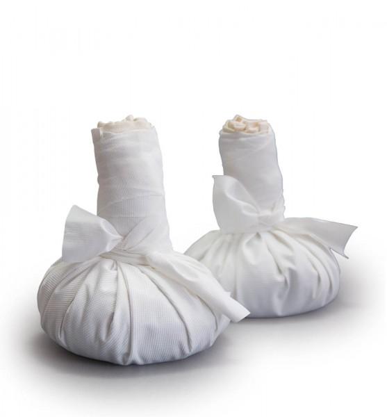 Pair of quartz poultice large (550g), incl. 2 protection cover PU