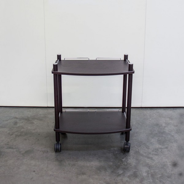 Lamica Equipment Trolley, double, wenge, RAL8022 - sale item no. T45