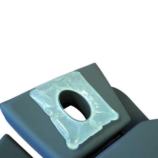 Ring-type gel cushion for spa tables, 1 button, transparent