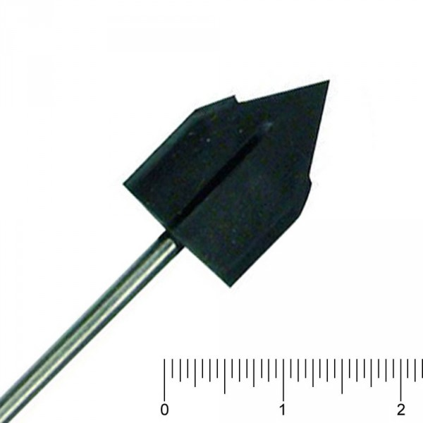 mandrel for disposable burs, pointed, 10 mm