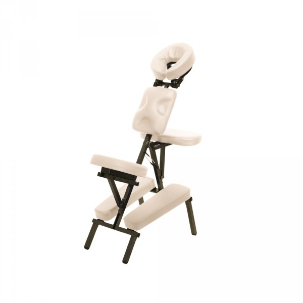 Portable massage chair incl. trolley bag, in creme
