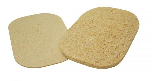 Pressed sponge, oval, white, 5.72 x 8.3 cm
