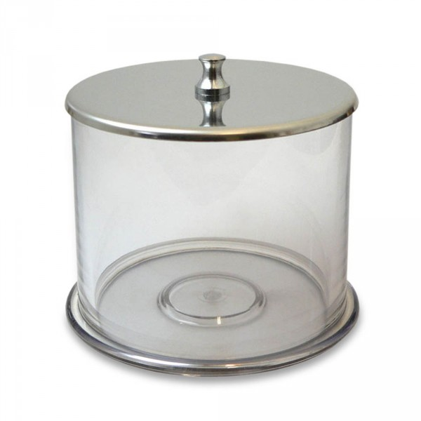 Acrylic cotton jar with lid, acrylic with stainless steel cover, Ø 11 cm (4.33 )