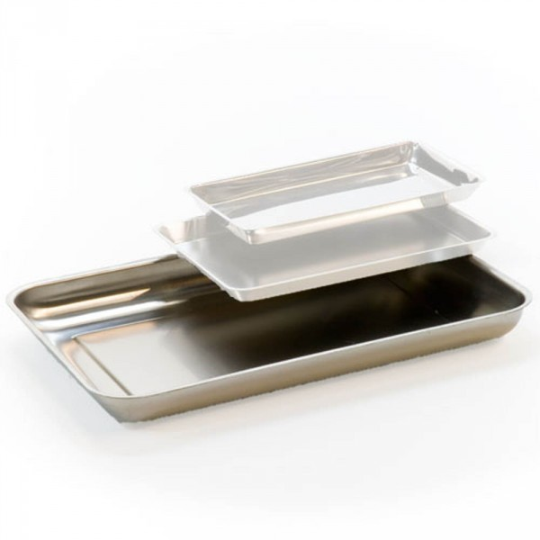 instruments tray, stainless steel, 300 x 220 mm