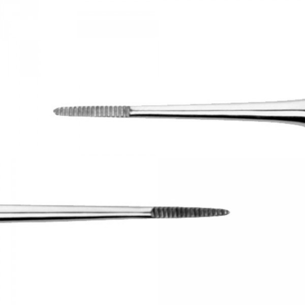 Double nail corner file, stainless steel, 13.2 cm