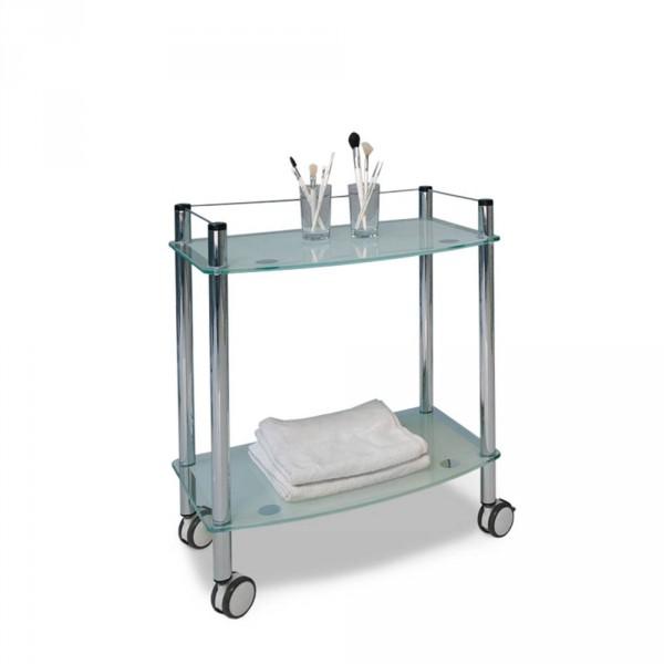 Trolley GlasDecor, 2 tiers, chrome