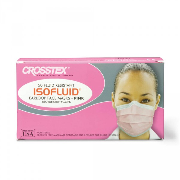 Isofluid face masks, pink, 50 pieces