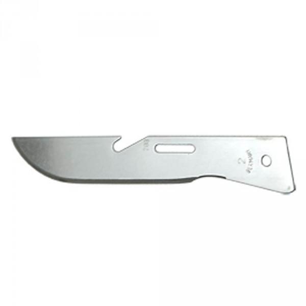 Scalpel blades, size 2, sterile, 100 pieces