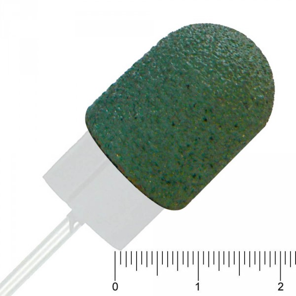 disposable burs, round, rough, green, 13 mm, 10 pieces