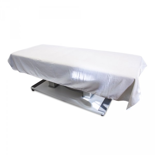 Velours sheet 150 x 230 cm, white