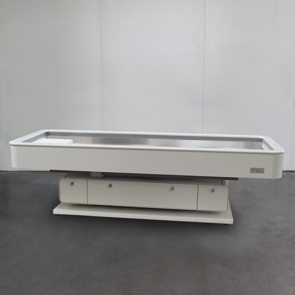 MLX Quartz Round, white RAL9016, Dynamic flow system, natural Quartz - sale item