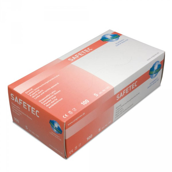 Latex gloves, without powder, XS, 100 pieces