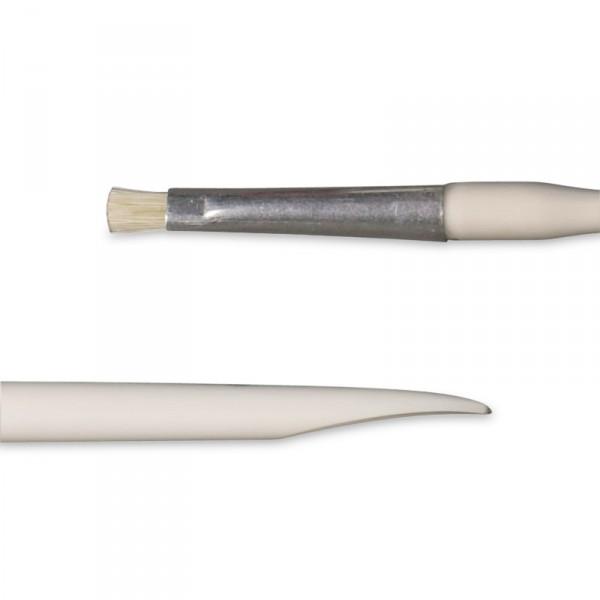 Baton brush and cleaner