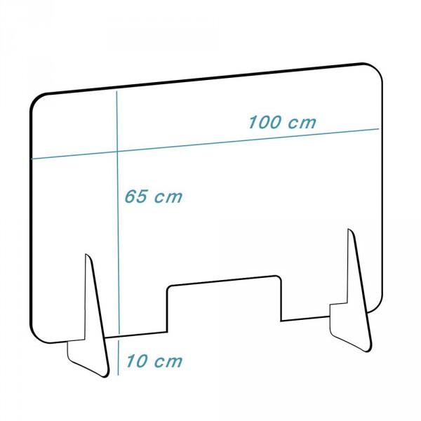 Plexiglass disc 'high', Transparent