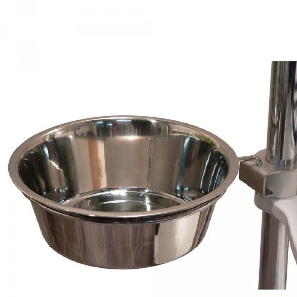 Water bowl with fixture